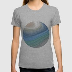 Topography Womens Fitted Tee Athletic Grey SMALL