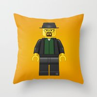 Lego Walter White - Vector Throw Pillow