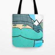 Blue Beard Tote Bag