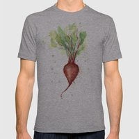 Red Beet Watercolor | Ve… Mens Fitted Tee Athletic Grey SMALL