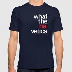 Hel Vetica Mens Fitted Tee Navy SMALL