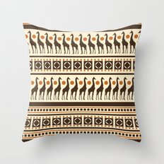 Giraffe Safari Throw Pillow