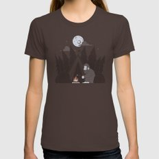Forest Life Womens Fitted Tee Brown SMALL