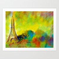 eiffel Art Prints featuring Eiffel by Alexandre Reis
