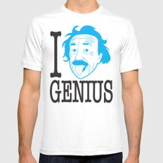I __ Genius Mens Fitted Tee White SMALL