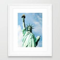 The Symbol. Staue of Liberty, New York. Framed Art Print