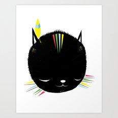 MIGHTY TIGARRR, BLACK KITTEN 묘 Art Print
