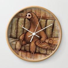 Drunk Sloth Wall Clock