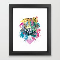 Tiger Splash Framed Art Print