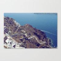 Santorini Stairs Canvas Print
