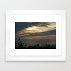 Sunset in Montauk Framed Art Print