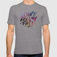 I Can't Feel My Face Mens Fitted Tee Tri-Grey SMALL
