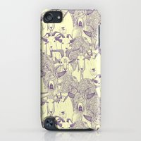 iPod Touch Cases featuring just goats purple cream by Sharon Turner