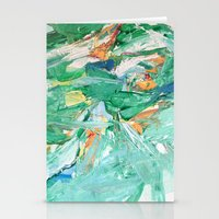 Melody In Green  Stationery Cards