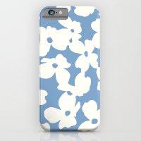 Dogwood Floral Print: Sky Blue iPhone 6 Slim Case