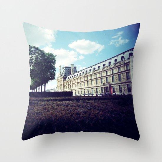 Louvre Gardens I Throw Pillow