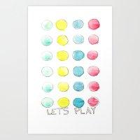 Let´s  play Art Print