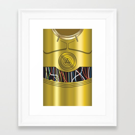 Star Wars C3PO Vector Framed Art Print