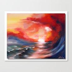 landscape, sunset Canvas Print