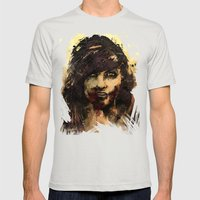 Female Zombie Mens Fitted Tee Silver SMALL