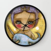 Narwhal Love Wall Clock