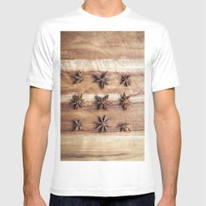 Stars and Stripes of Baking - Star Anise Mens Fitted Tee White SMALL