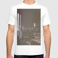 SLEEPLESS White SMALL Mens Fitted Tee