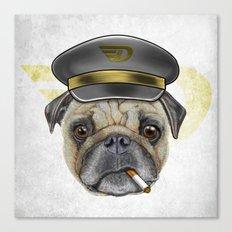 Pug Commander  Canvas Print