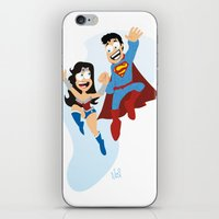 couple dressed as heroes. iPhone & iPod Skin