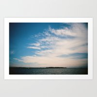 South River Sky Art Print