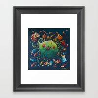Fishes Are Born In Carni… Framed Art Print