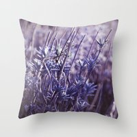 Heavenly Blue Throw Pillow