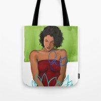 Amarican Lotus Tote Bag