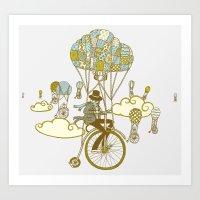 Bicycle Race Art Print