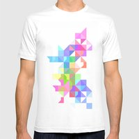 Color Love Mens Fitted Tee White SMALL