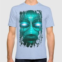 Tribe Mens Fitted Tee Tri-Blue SMALL