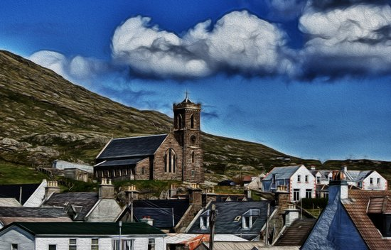 Barra Church Art Print