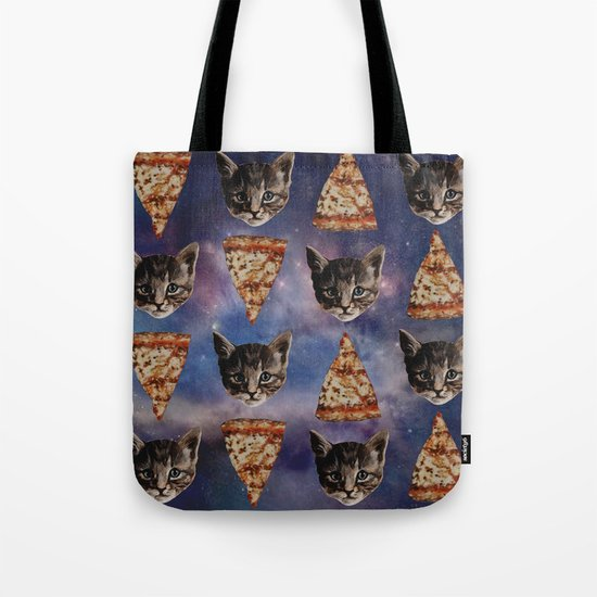 Kitten Pizza Galaxy  Tote Bag