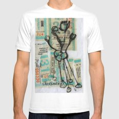 MuNi Transfer Atom Mens Fitted Tee White SMALL