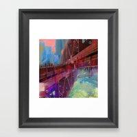 Double Bridge Framed Art Print