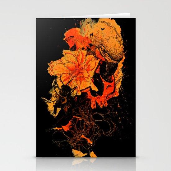 Pollination Dark Fire Stationery Card