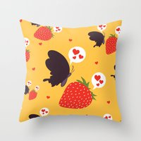 The Death Loves The Stra… Throw Pillow