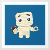 MUMMY'S BOY Art Print