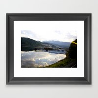 Reflections Of Clouds In… Framed Art Print