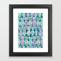 Tribal Pineapples Framed Art Print