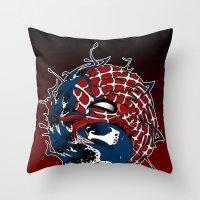 venom yin yang Throw Pillow