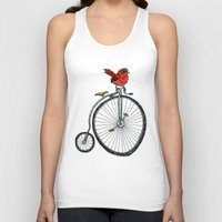 bird on a bicycle. Unisex Tank Top