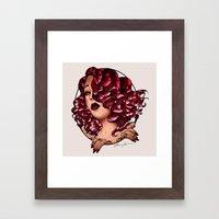 Redhead Vamp Framed Art Print