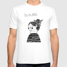 I guess I'm an artist SMALL Mens Fitted Tee White