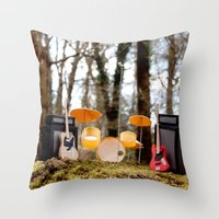 If a band plays in the forest ...... Throw Pillow